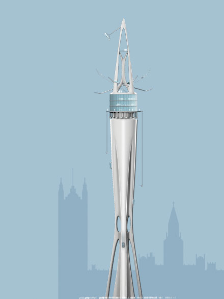 mid-level vertical theme park tower design 2